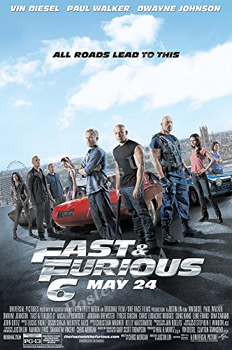 Posters USA Fast and Furious 6 Movie Poster GLOSSY FINISH - MOV283 (24