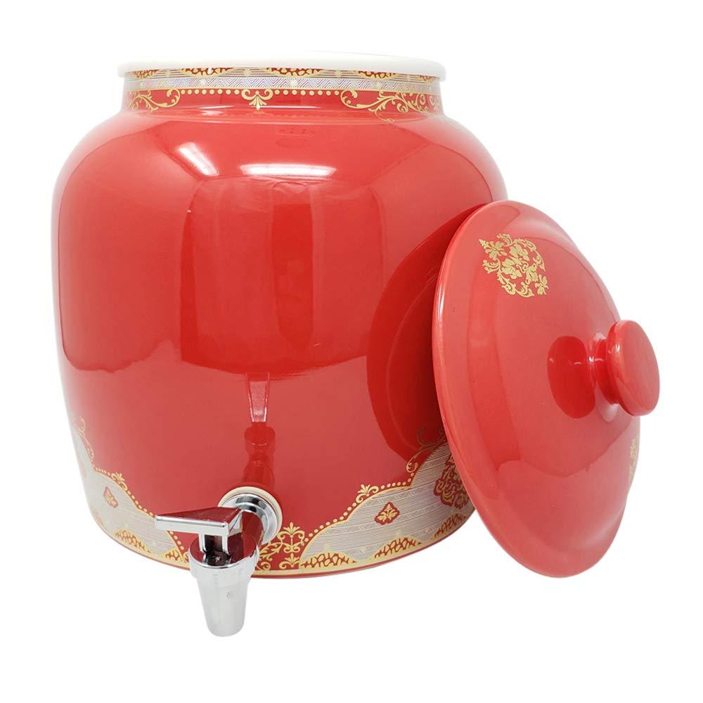 Dispensador de bebidas de porcelana sin plomo con tapa a ...