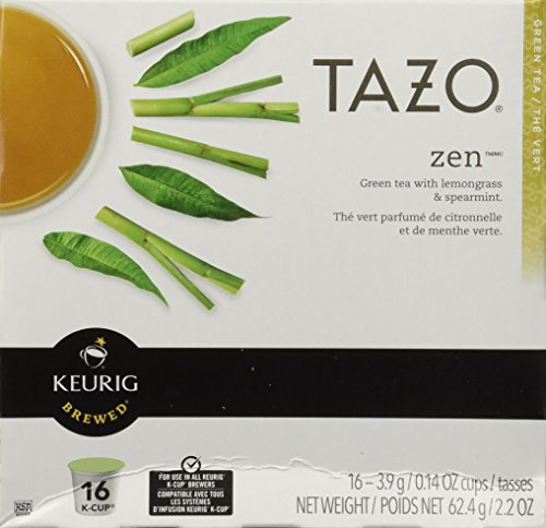 : Starbucks Tazo Tea Zen Green Tea, 16 K-Cups for Keurig Brewers