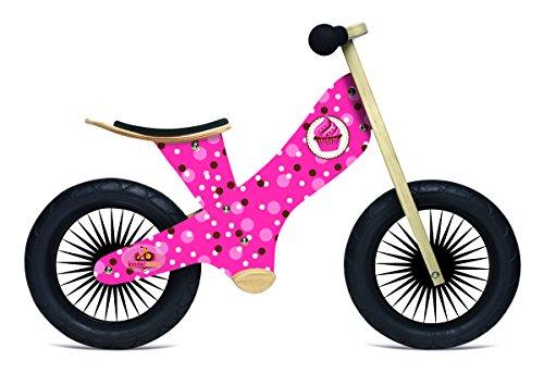 Kinderfeets Retro Wooden Balance Bike, Cupcake