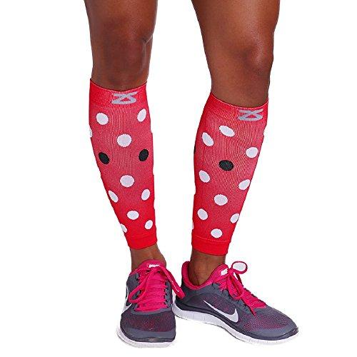 Zensah Compression Leg Sleeves,Polka Dot Lady Bug,Small