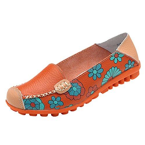 Chaussures à 3 Femme Vogstyle plats décontractées confort talons Espadrilles plates style orange Espadrilles et confortables wqpUngF5x
