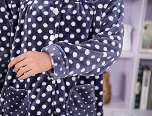 Azul Franela Suave Lujo Moda Pijama Conjunto Pantalón Noble Púrpura Sencillos Y De Pijamas Larga Manga Señoras Top AZ5wzqw