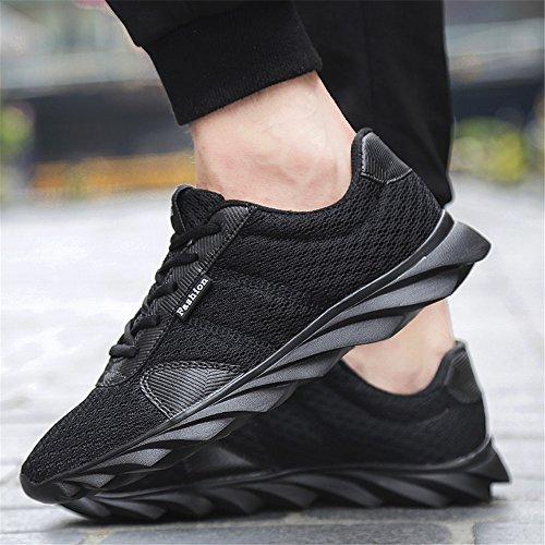 Freizeitschuhe Turnschuhe Laufschuhe Schwarz Sneakers Sportschuhe BRKVALIT Herren Damen Erwachsene wqvOSXSI