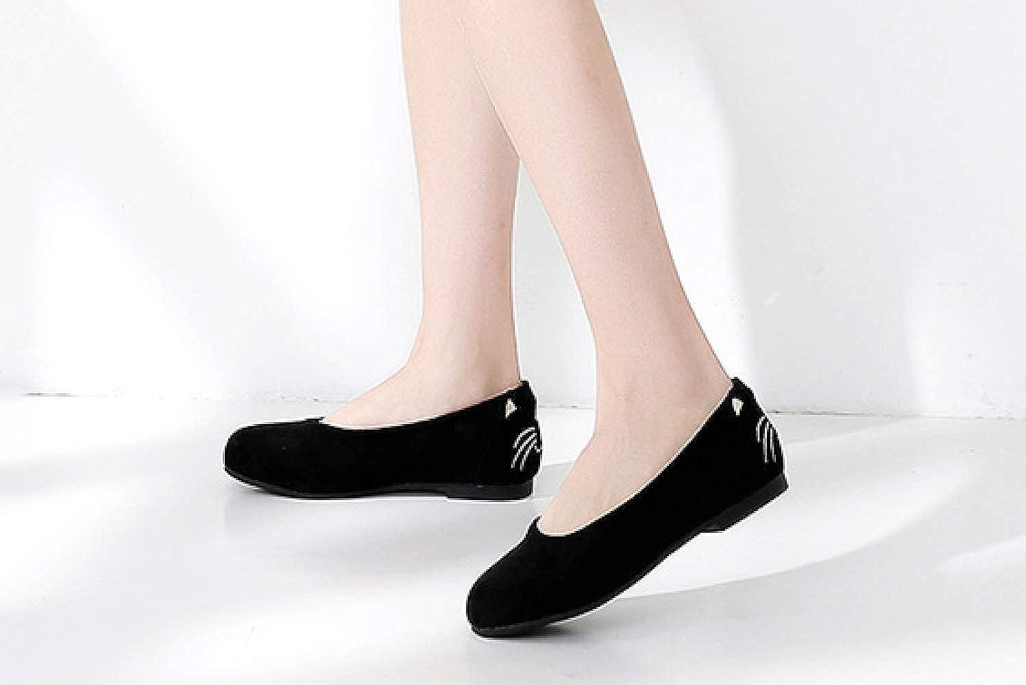 LYJBIK Frauen Flache Flacher Schuh der Frauen LYJBIK Flache 406 schwarz 65319d