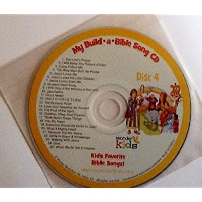 My Build A Bible Storybook! Disc 4- 25 Bible Stories, 25 Bible Songs on Included Music CD - By Wonder Kids: Toys & Games