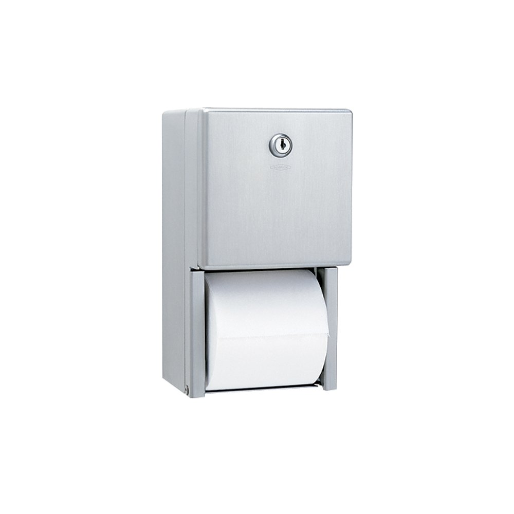 Bobrick B-2888 Classic Series Surface-Mounted Multi-Roll Toilet Tissue Dispenser, Satin