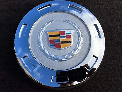 "Tuesnut 2007-2014 Escalade ESV 2007-2013 Escalade EXT Wheel Center HUB Cap Colorful Crest Silver 7-Spoke 22"" Wheels ONLY Replace # 9596649 (1)"