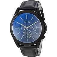 [Sponsored]Armani Exchange Men's  Black Leather Watch AX2613