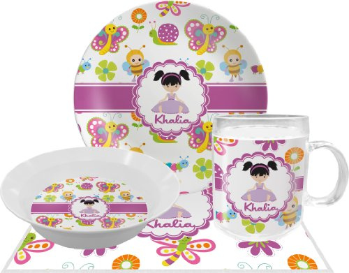 Butterflies Dinner Set - 4 Pc (Personalized)