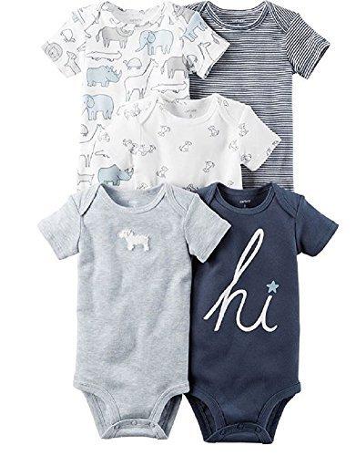 Carter's Baby Boys' 5-Pack Bodysuits,Blue ()