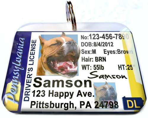 Pennsylvania Driver License for Cats or Dogs by ID4Pet