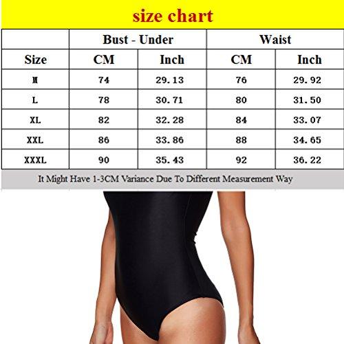 Zhhlaixing Hot Womens Black Sport Nadando Costume Bulit in Bra Soft Cups Swimsuit Black