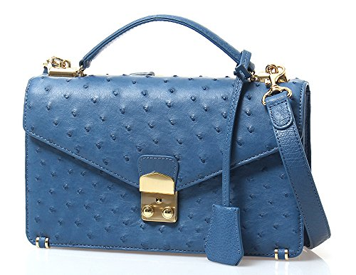 ZARMOI Genuine Ostrich Skin Petty Handbags (Cremaris)