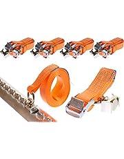 4 x 250 daN kg 5 m Sjorband met vergrendeling en fitting voor airline rails klemslot met eindbeslag spanbanden tweedelig