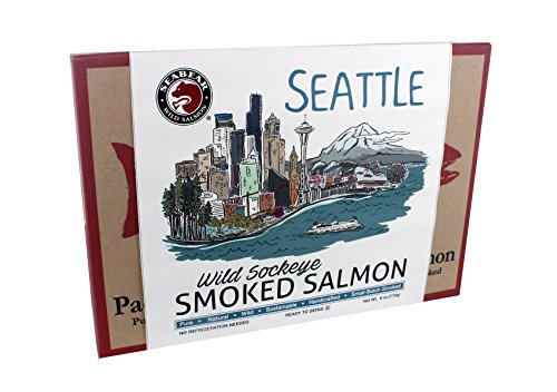 (SeaBear Seattle Skyline Salmon, Smoked Sockeye, 6 Ounce)