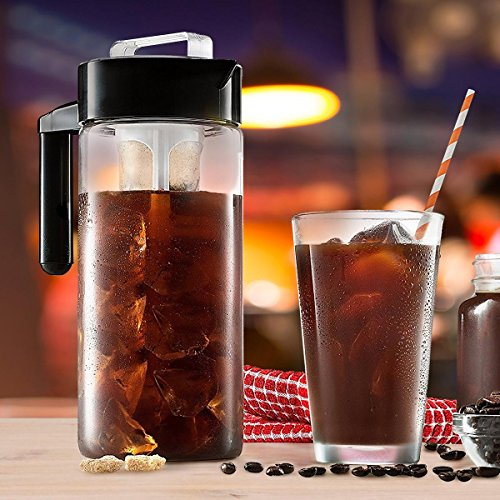 Chilly Java Cold Brew Glass Coffee Maker Pitcher, Over 1 Quart Capacity (5+ Servings) by Chilly Java (Image #1)