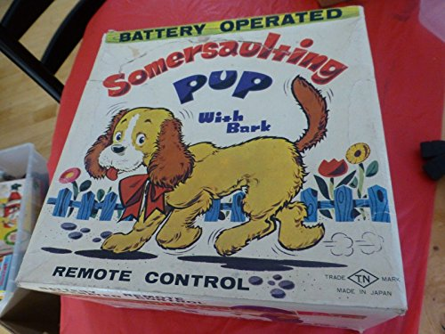 Vintage BOX somersaulting pup with bark battery opertated toy TN Japan BOX ONLY