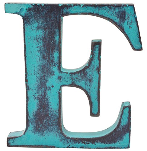 Shabby Chic Vintage Large 11 cm Wooden Letters Hand Finished Alphabets Free-Standing Or Wall Mounted Decor for Weddings Baby Names Signs Unique Personalised Gift. (Teal, Letter - Letters Vintage