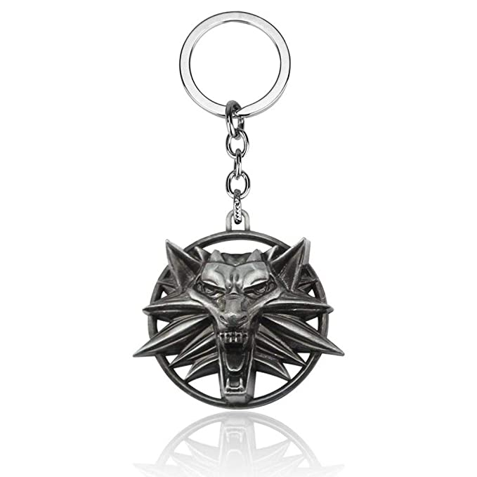 Amazon.com: AEmber - Witcher 3 Collar Llavero Wolf Head ...