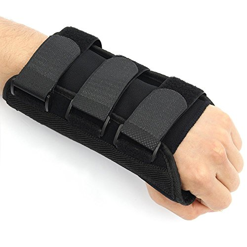 Pro Wrist Brace | Wrist Brace Support for Wrist Pain (Carpal Tunnel, Tendonitis) | Comforting Breathable Fabric Material | Adjustable Straps | Left Wrist