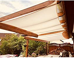 Vela de sombra solar 3 * 4m Rectángulo Impermeable 98% Bloque UV Jardín Patio al aire libre Toldo Toldo con protección solar, Durable, fácil de limpiar, fácil de instalar (Color :