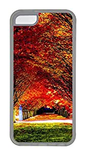 iPhone 5C Cases & Covers - Autumn Leaves Custom TPU Soft Case Cover Protector for iPhone 5C - Transparent