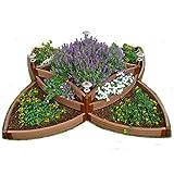 "Frame It All 300001197 1"" Composite Versailles Sunburst Raised Garden Bed Kit, 96"" x 96"" x 16.5"""