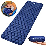 VENTURE 4TH Ultralight Air Sleeping Pad - Lightweight, Compact, Durable - Air Cell Technology for Added Stability and Comfort While Backpacking, Camping, and Traveling (Dark Blue)