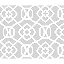 Moroccan Fabric - Moroccan Lattice-Light Chromium White by creativeworksstudios - Moroccan Fabric with Spoonflower - Printed on Fleece Fabric by the Yard