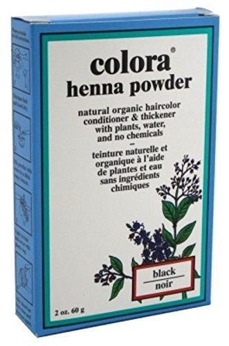 Colora Henna Powder Hair Color Black 2oz (3 Pack)