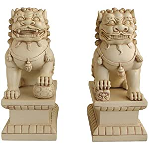 Amazon.com : Asian Foo Dogs (Fu Dogs) Garden Statues, Pair