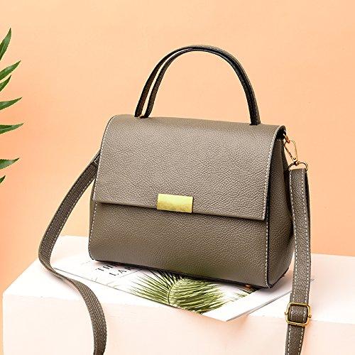 Nouveau grandes souple sac à cuir sac sac capacité de main épaule Femmes bandoulière de la à Sac dames simple LANDONA Kaki EzSfnxq6Xw