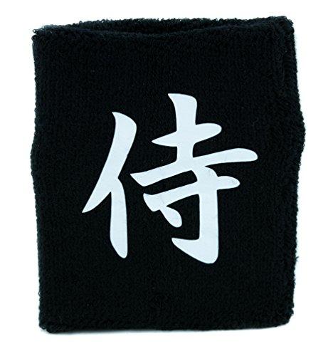 Samurai Warrior Wristband Sweatband Martial Arts Clothing Japanese Swordsman Anime