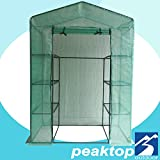 Peaktop Portable Mini Greenhouse Walk in Grow Garden Plant Growing Green House Small Hot Tent 4 Tiers 6 Shelves 78″x56″x30″ Steel Framework with Cover