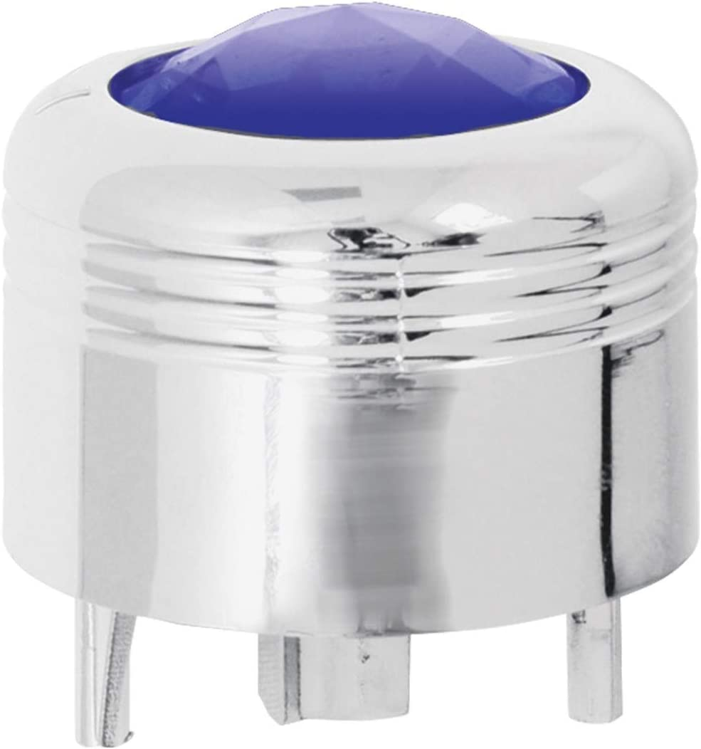 GG Grand General 69044 Chrome Plastic A//C Knob with Purple Jewel for Peterbilt