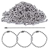 BronaGrand 150pcs 100mm Long Bead Connector Clasp 2.4 mm Diameter Ball Chains Keychain Tag Key Rings