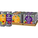 V8 +Energy, Juice Drink with Green Tea, Variety Pack, 8 oz. Can (4 Packs of 6, Total of 24)