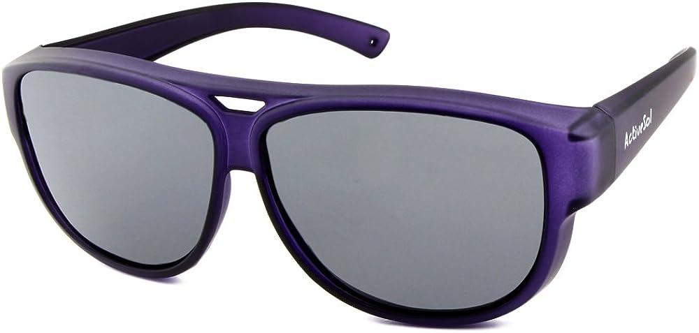 ActiveSol SOBREGAFAS DE SOL de diseño   Gafas de aviador   Sobregafas de sol con protección UV400   polarizadas   24 gramos