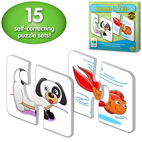 The Learning Journey: My First Match It - Head and Tails - 15 Self-Correcting Animal Matching Puzzles (Activities For 2 And A Half Year Olds)