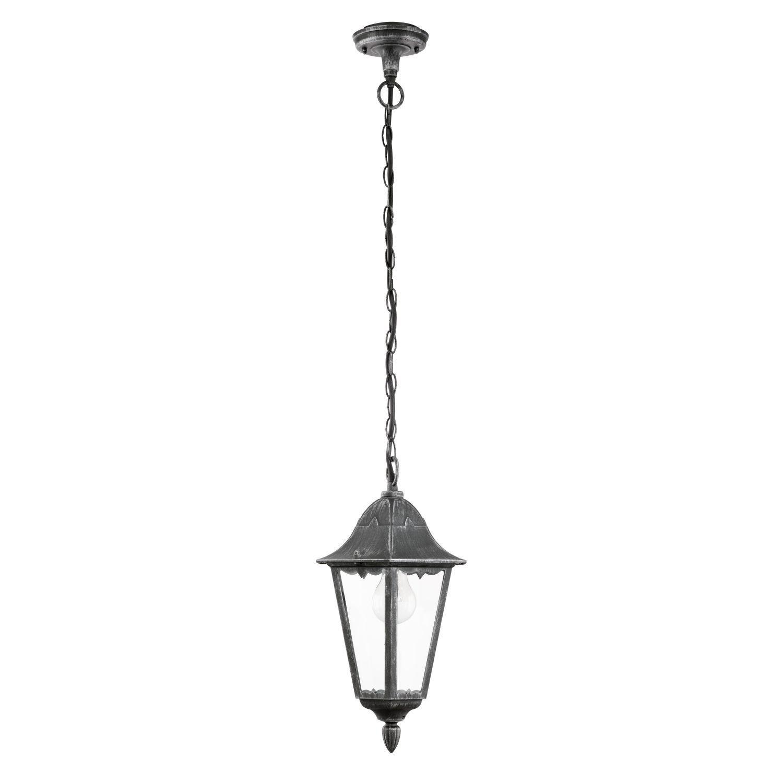 Antico lampada a sospensione (E27, Rustico, in nero, forma di lanterna) lampada da esterno giardino Lanterna Lampada candela lampada lampadario lampada a sospensione
