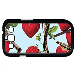 Nutrient rich, fruits strawberry - Watercolor style - Case Cover For Samsung Galaxy S3 i9300 (Black)