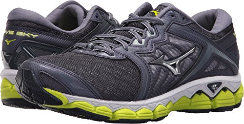 Mizuno Men's Wave Sky Running Shoes, Gray Stone - Silver, 11.5 D US (Best Mizuno Running Shoes For Flat Feet)