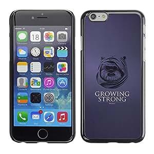 Apple (5.5 inches!!!) iPhone 6+ Plus / 6S+ Plus , Growing Strong - Funny Ewok - Cáscara Funda Case Caso De Plástico