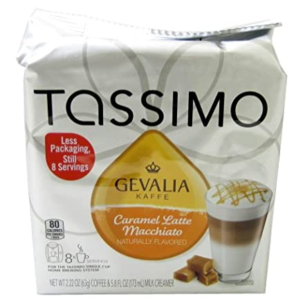 Tassimo Latte Macchiato Caramelo T DISCs (Pack de 2): Amazon ...