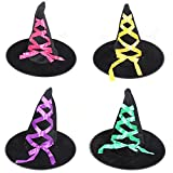 HONFON Adult Witch Hats Halloween Party Children's Day Accessory 2PCS/3PCS/4PCS