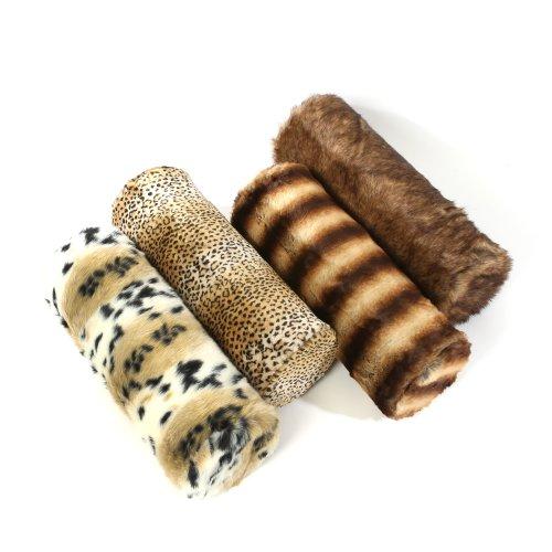 (Chinchilla Mink Faux Fur Bolster Pillow- 9