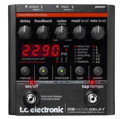 TC Electronic Nova Delay Guitar Delay Effects ()