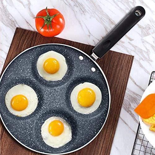 Portable quatre trous Frying Pan Pot Omelette jambon Pancake Maker Egg Friture Gadget machine de cuisine Batterie de cuisine DAGUAI