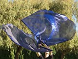 INDIGO Shimmer Angel Wing Catch the Fire Worship Flags (single layer pair)